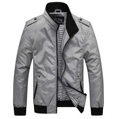 Veste mi-saison décontracté style vintage col montant pour homme