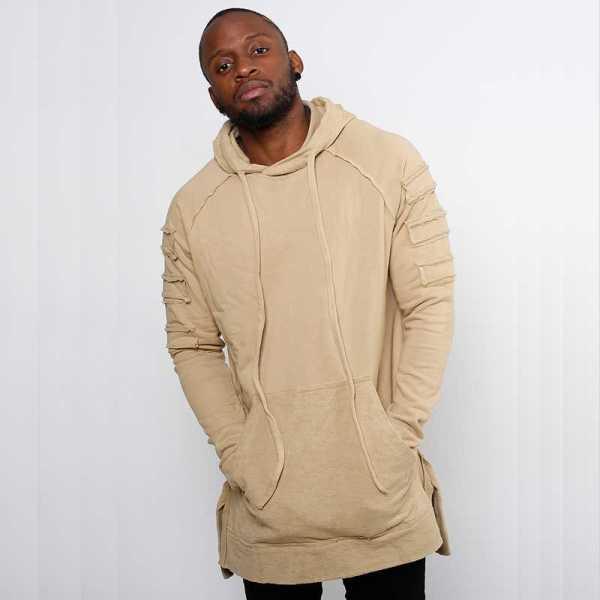 Long sweatshirt modern design for men's streetwear style