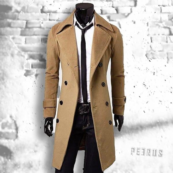 Elegant casual chic long coat for men