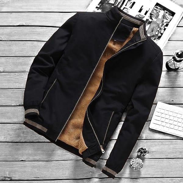 Bomber casual chaqueta hombre cuello alto