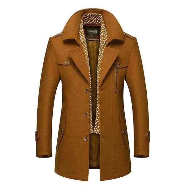 Elegant long-neck coat for men