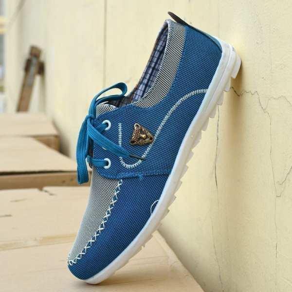 Casual Korean canvas shoes for men
