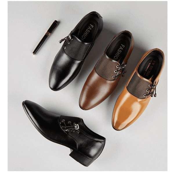 Derbies shoes chic lace-ups side for men