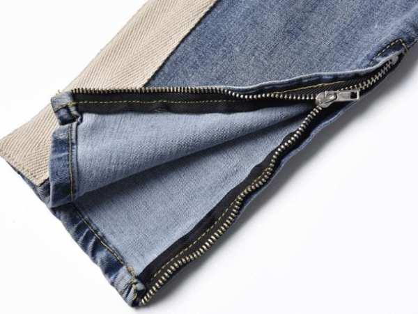 Blue jeans retro streetwear style for men design stripes