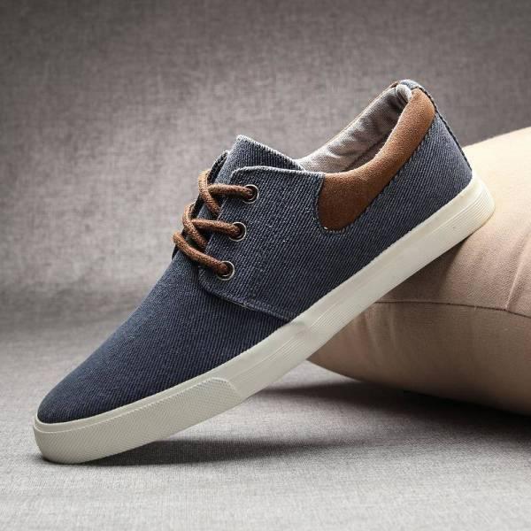 Zapatos de verano de lona estilo skate para hombre