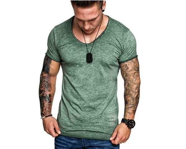Men's modern cut short sleeve T-shirt