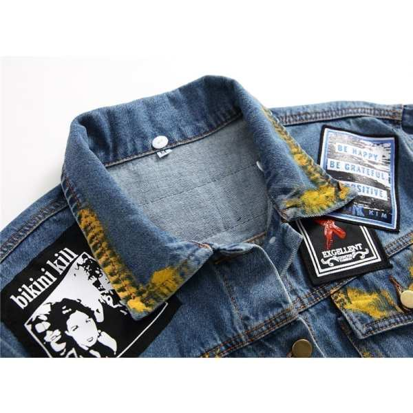 Loose casual jacket embroidered for men