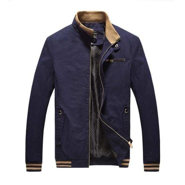 Men's Casual Amount Collar Jacket 100% cotton