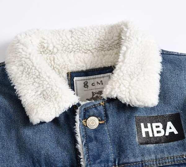 Veste en jean épais en velours d'agneau