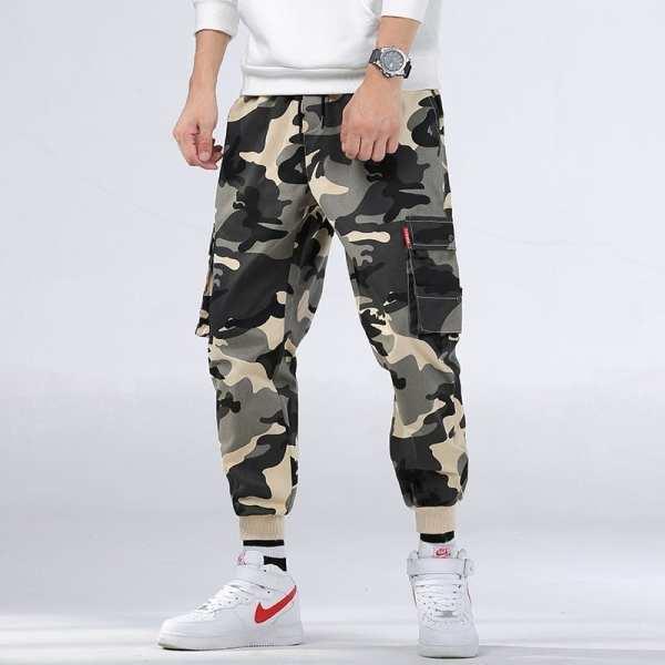 Pantalon Cargo décontracté style camouflage pour hommes