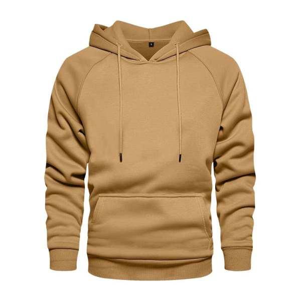 Hoodie classic khaki hood for men