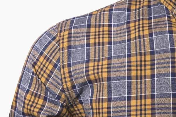 Casual flannel long-sleeved shirt for men