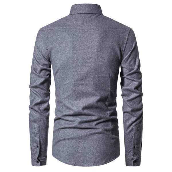 Camisa casual elegante de manga larga para hombre