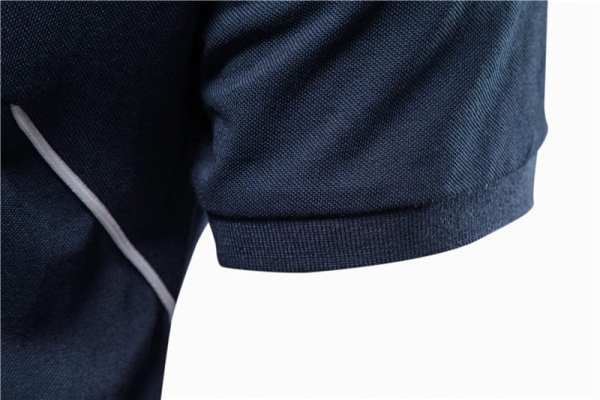 Polo sport broderie manches courtes pour hommes