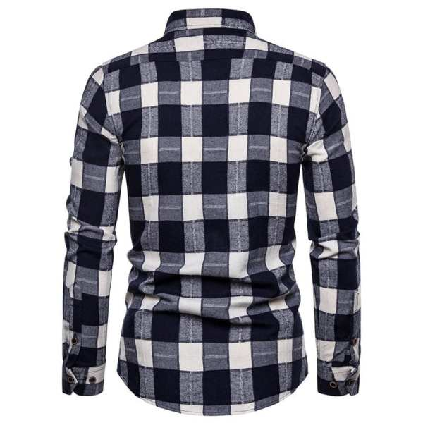 Men's flannel checkered shirt