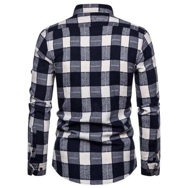 Camisa a cuadros de franela para hombre