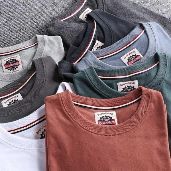 T-shirt col rond simple pour hommes