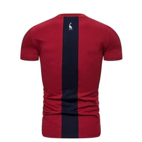 Slim fit men's round-neck T-shirt