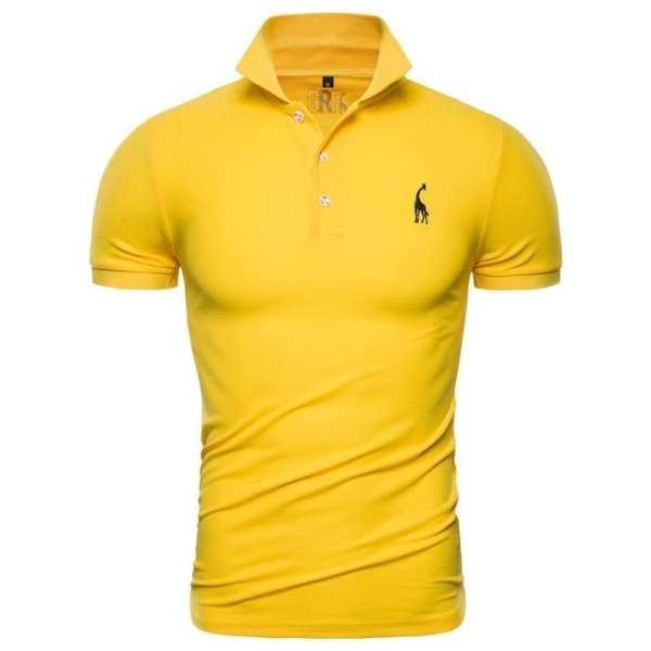 Polo casual à manches courtes pour hommes