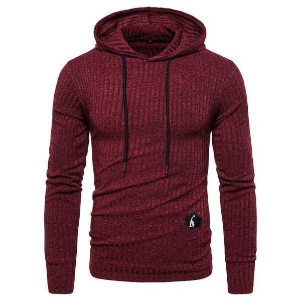 Hoodie streetwear original couleur unie hommes