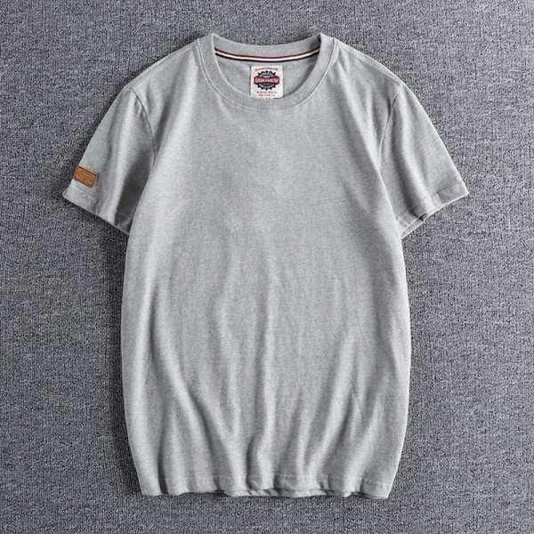 Camiseta de cuello redondo de cuello redondo para hombre