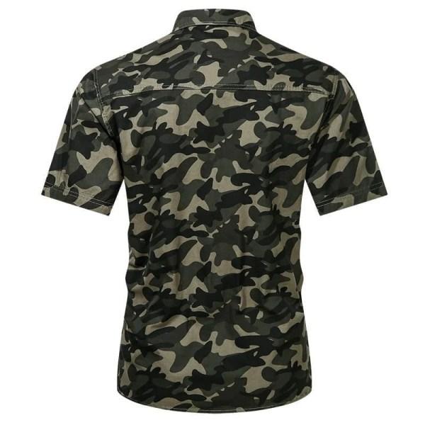 Casual estilo camuflaje camisa mangas cortas hombres