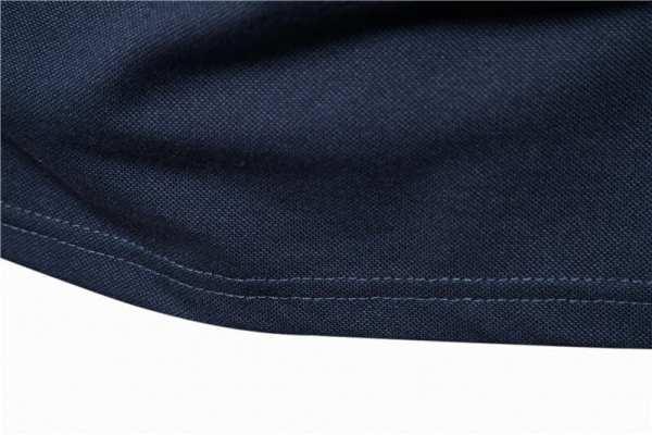 Polo casual bi-couleur manches courtes hommes