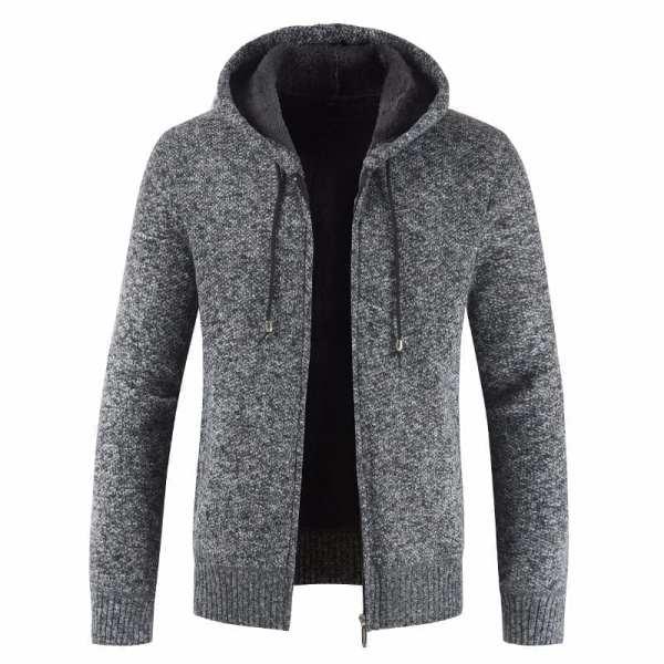 Mid-season hooded jacket for men