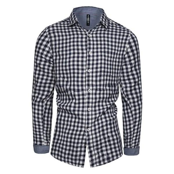 Camisas de azulejos de manga larga para hombre de ajuste delgado