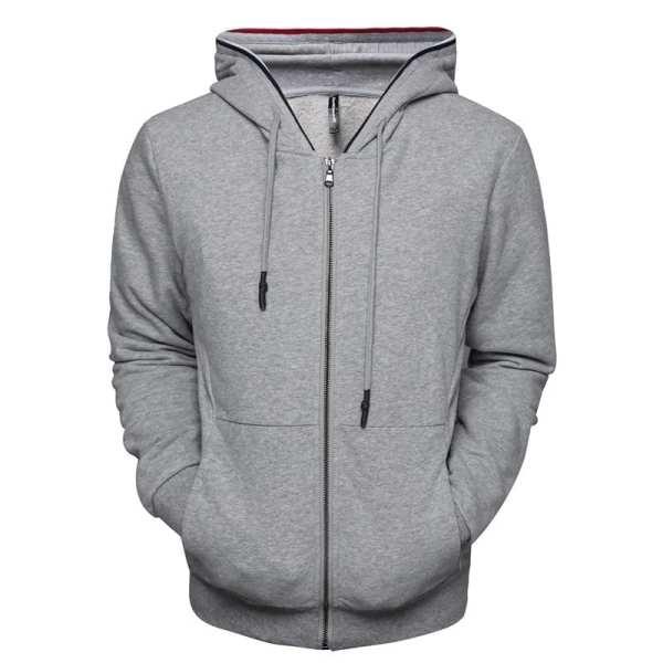 Sudadera con capucha individual con cremallera de algodón para hombre