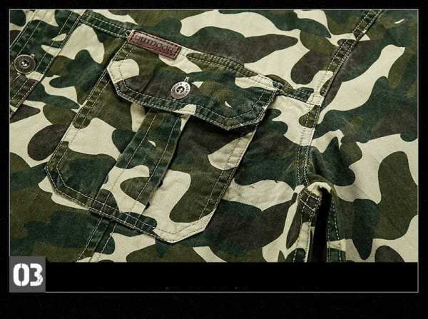 Casual style camouflage shirt short sleeves men