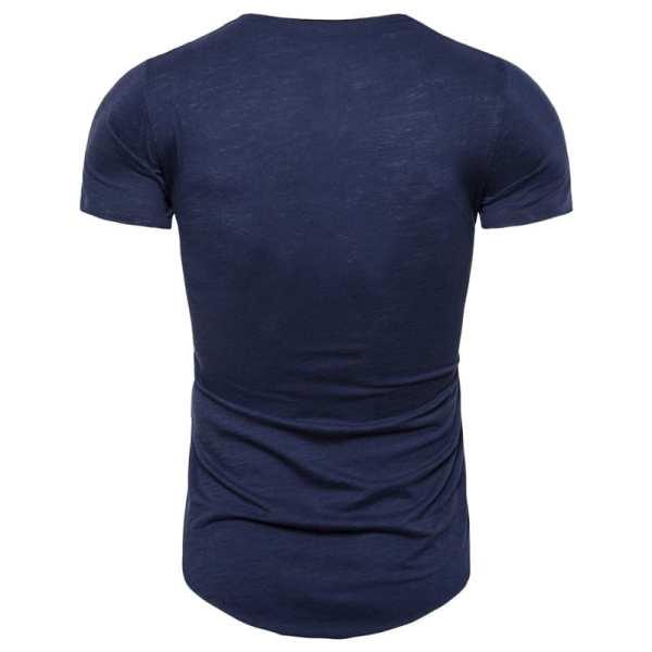 Camiseta de ropa de calle col v de ajuste delgado para hombre