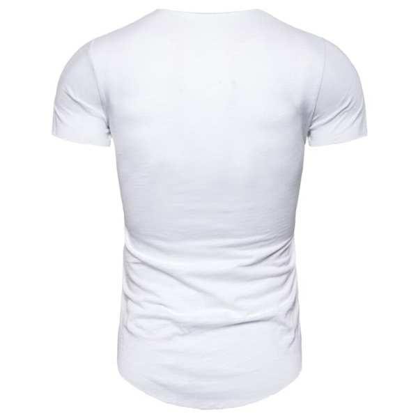 Camiseta de cuello en V de manga corta para hombre