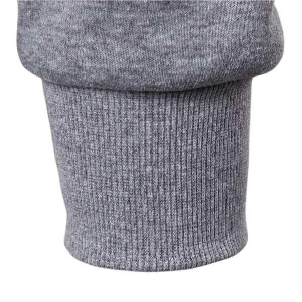 Sudadera con capucha con cremallera bordada para hombres