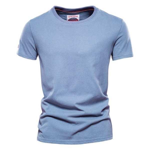 Men's long-neck streetwear long round-neck t-shirt