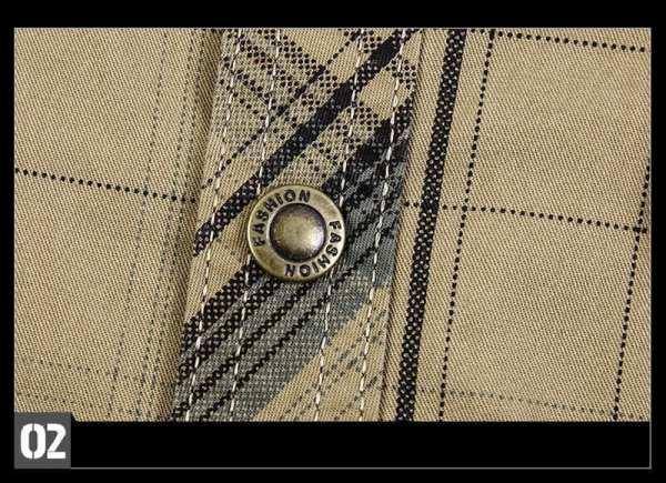 Classic men's short-sleeved flannel shirt