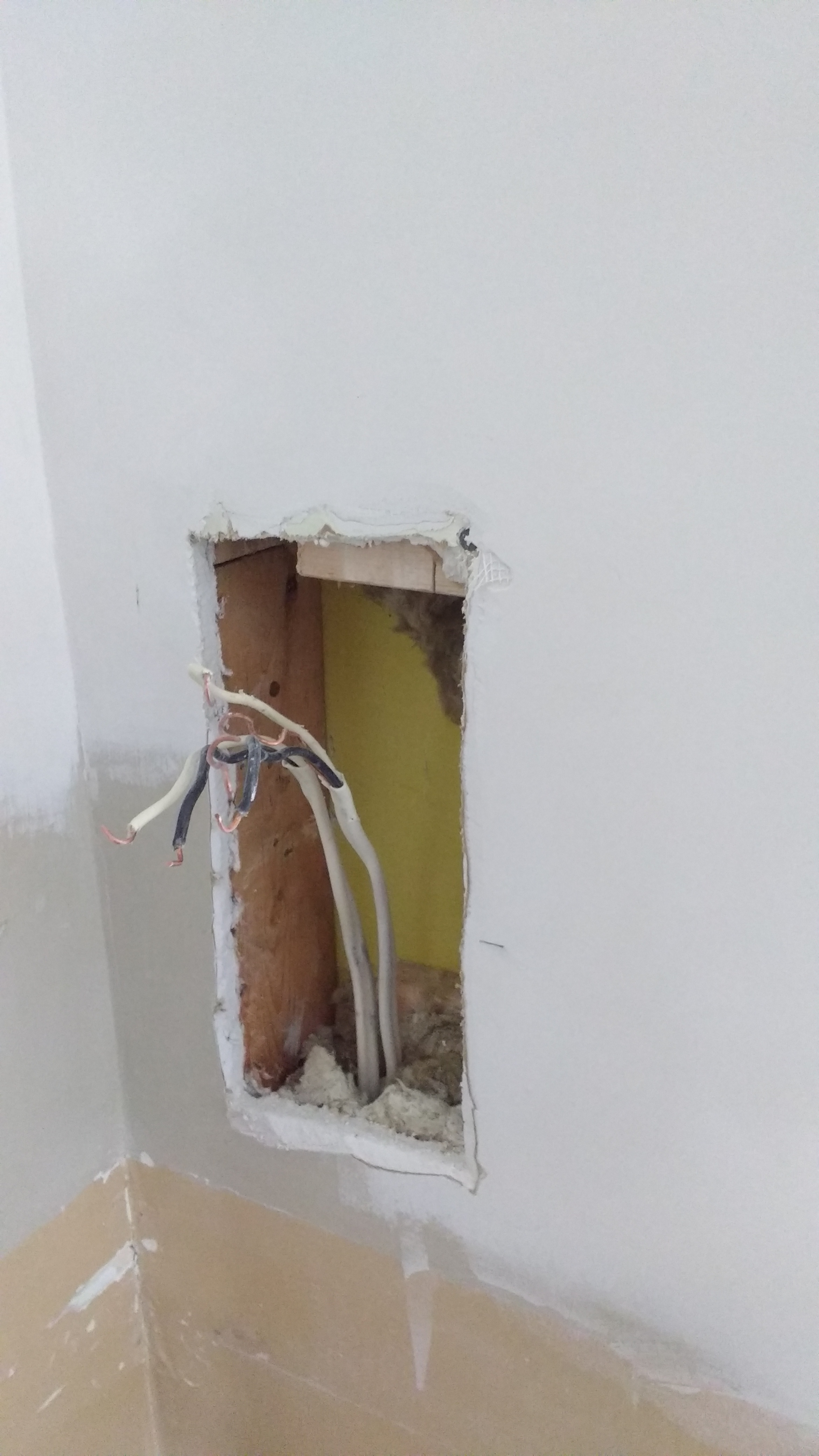 Bathroom Electrical Outlet Peeter Joot S Blog Moving An Electrical Outlet 4 Up In The