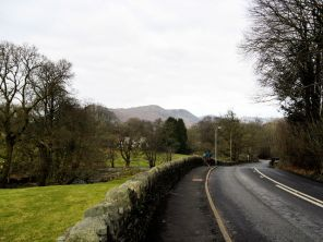 Leaving Ambleside, we got a first glimpse of the walk that lay ahead