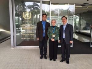 Avec M ZHANG Coordinateur Traditional and Complementary Medicine de l'OMS