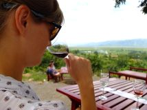 Wine tasting from Inlay lake wineyards