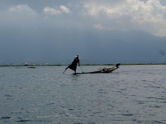 Fishermen's amazing balance