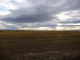 Argentinian steppe for hundred of kilometers after passing the border.