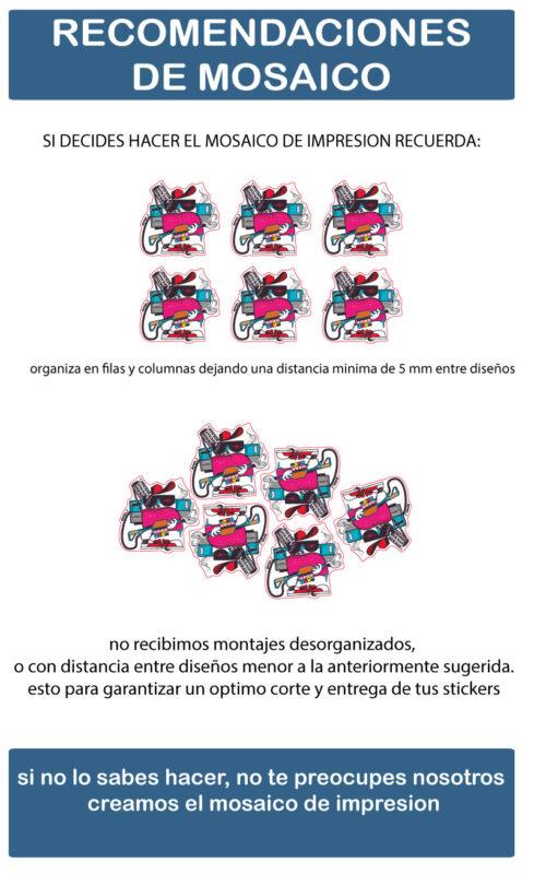 Mosaico impresión stickers