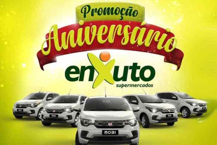 Concorra a 5 carros na promoção de aniversário Enxuto Supermercados