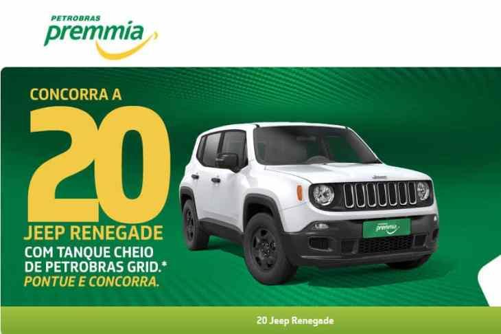 Promoção Petrobras Premmia: concorra a 20 Jeep Renegade 0km