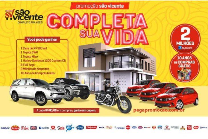 Promoção São Vicente Supermercados Completa a Sua Vida