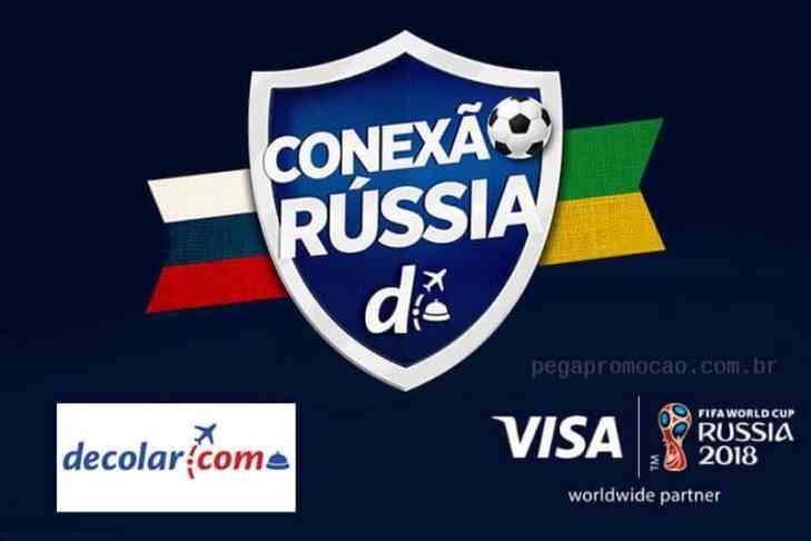Promoção Decolar.com Conexão Rússia Visa   Copa do Mundo 2018