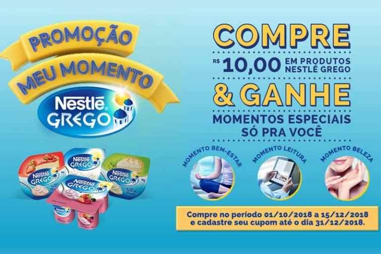 Promoção Nestlé Grego - Meu Momento 2018