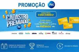 Promoção P&G Cadastro Premiado