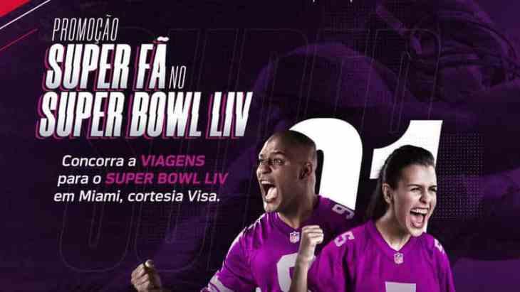 Promoção Bradesco Visa Super Fã no Super Bowl Liv sorteia 7 pacotes de viagem